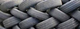 A pile of used tires