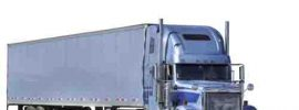 A semi truck