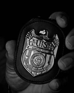 A private detective's badge.