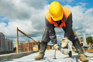 A bonded subcontractor works on a construction project.